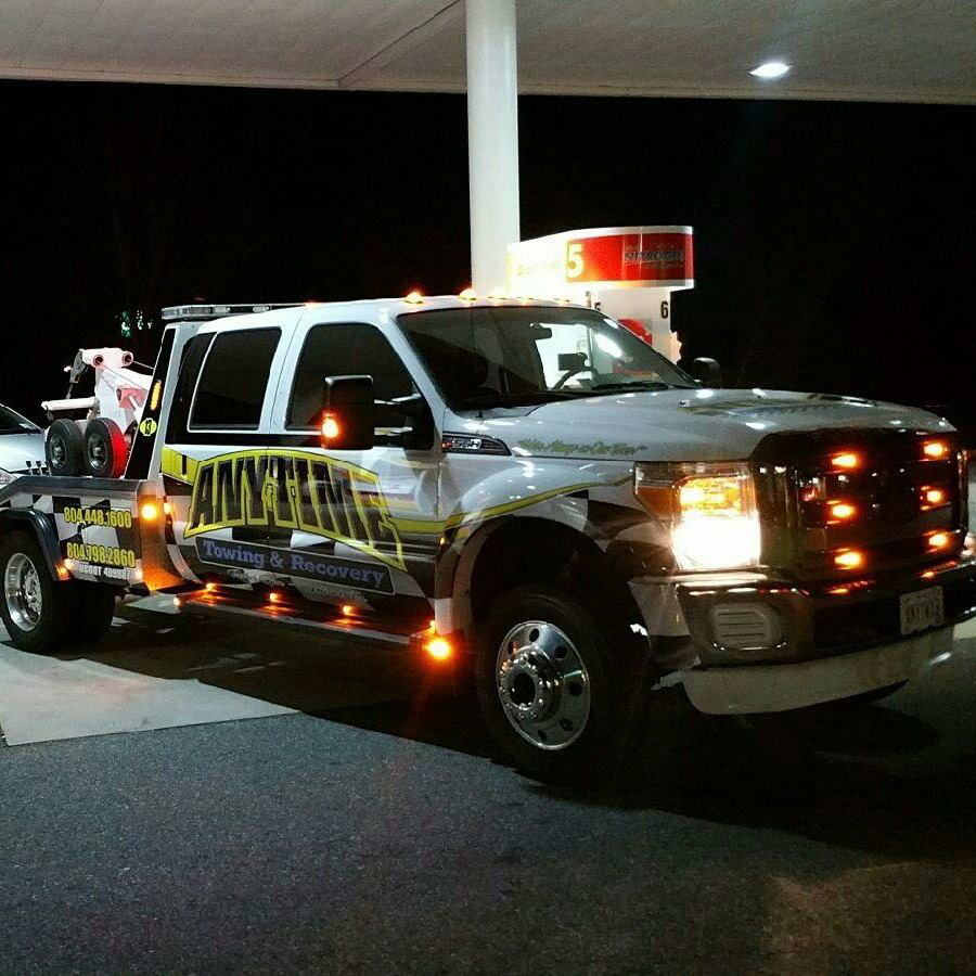 anytime towing 24hr