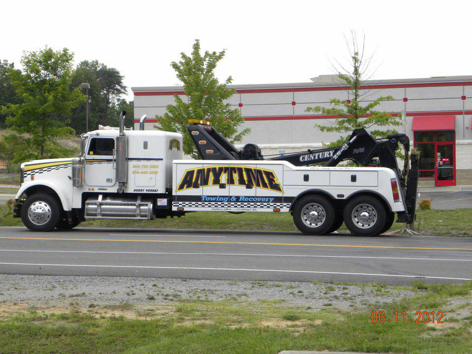 anytime towing large truck